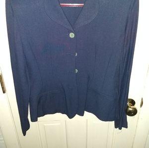 Sheri Martin Size 6 Dark Blue Blazer Lightweight